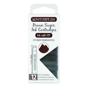 Monteverde Dolma Kalem Kartuşu Standart 12'li Brown Sugar G305BS