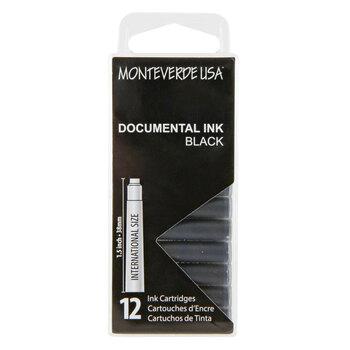 Monteverde Dolma Kalem Kartuşu Standart 12'li Permanent Black G305DB