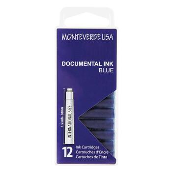 Monteverde Dolma Kalem Kartuşu Standart 12'li Permanent Blue G305DU