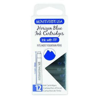 Monteverde Dolma Kalem Kartuşu Standart 12'li Horizon Blue G305HB