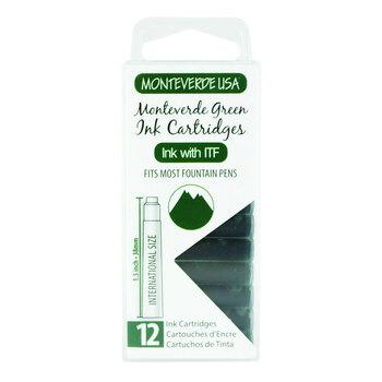 Monteverde Dolma Kalem Kartuşu Standart 12'li Monteverde Green G305MG