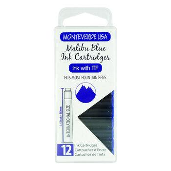 Monteverde Dolma Kalem Kartuşu Standart 12'li Malibu Blue G305MU