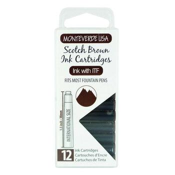 Monteverde Dolma Kalem Kartuşu Standart 12'li Scotch Brown G305SB