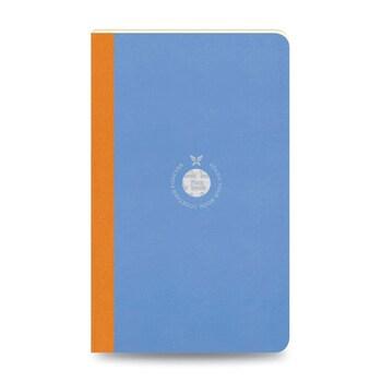 Flex Book 47 Esnek Mavi Smartbook 13x21 Turuncu Şerit Çizgili 160 Sayfa 70gr