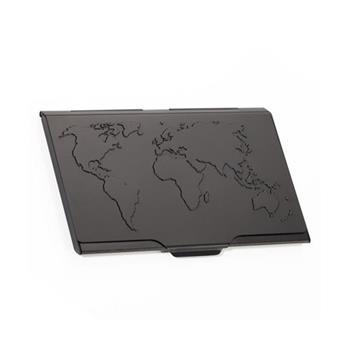 Troika Kartvizitlik Siyah Dünya Haritası Desenli Cdc15-02/bk
